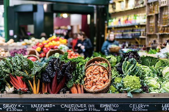 Imagen de un puesto del mercado