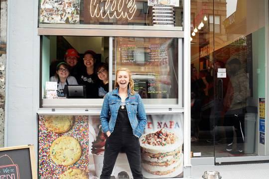 Imagen de la parte delantera de la tienda del Milk Bar en el Upper West Side (Foto: Milk Bar)