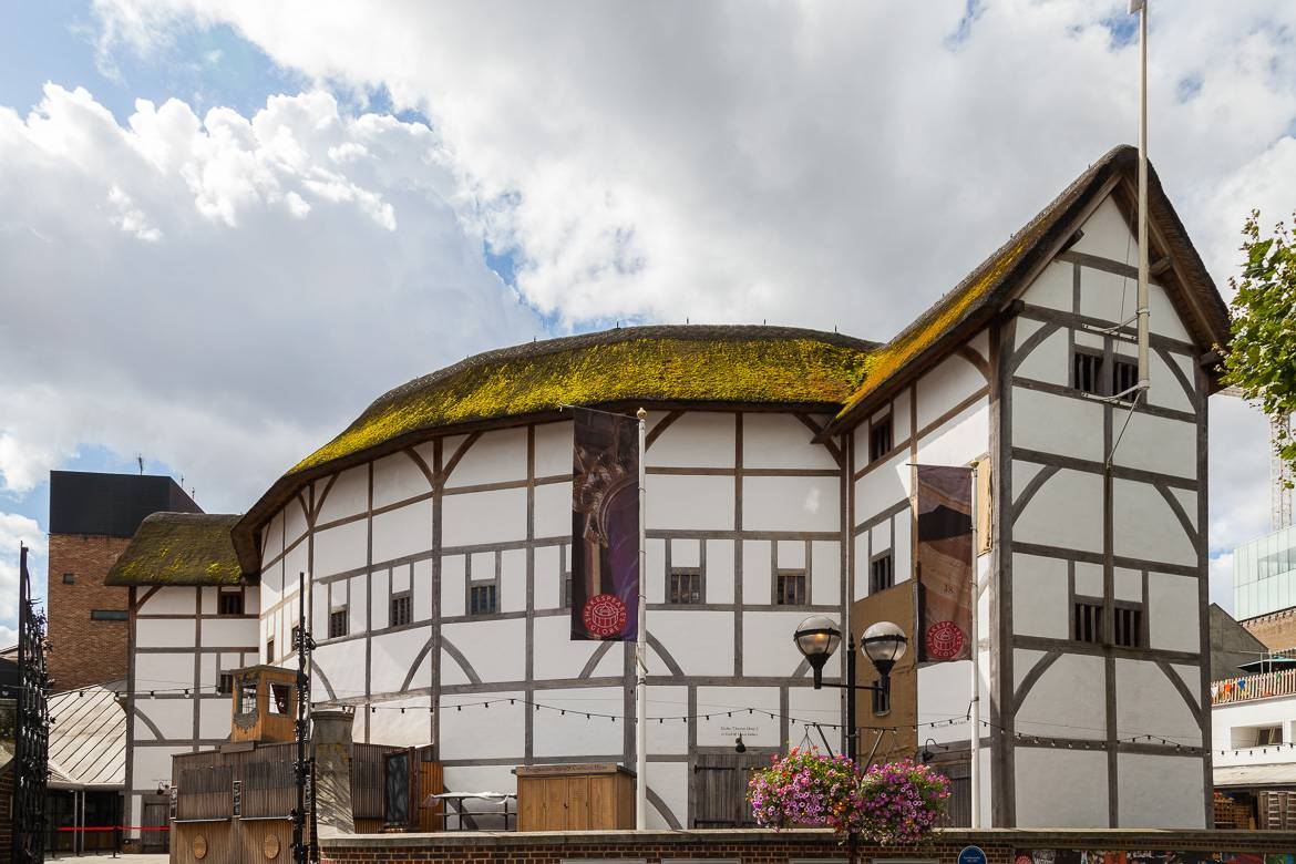 Imagen del teatro The Globe de Shakespeare en Londres