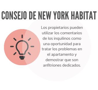La infografía de New York Habitat anima a los propietarios a utilizar las críticas como una oportunidad para demostrar que se preocupan.